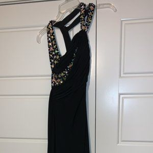 Black and Silver Homecoming/Court Warming Dress